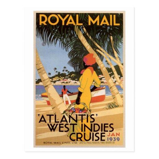 Vintage Royal Main Atlantis West Indies Cruise Jan Post Cards