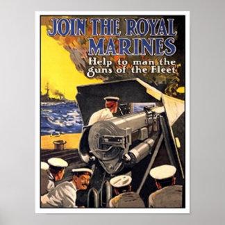 Vintage Royal Marines Poster