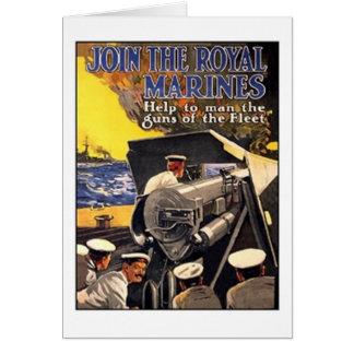Vintage Royal Marines Poster Card