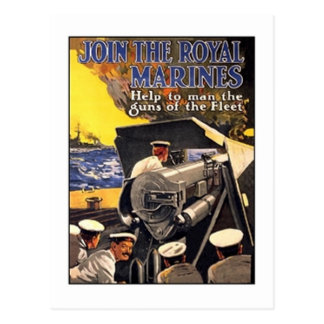 Vintage Royal Marines Poster Postcard