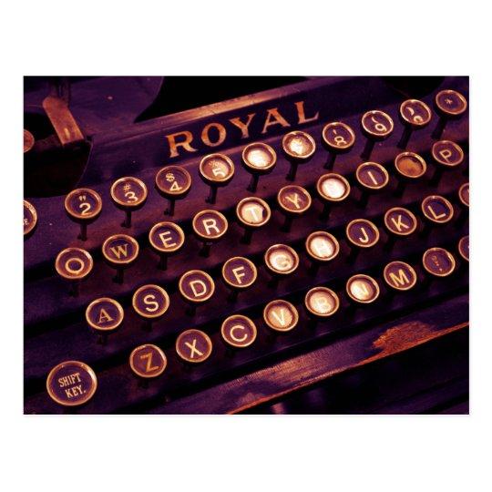 Vintage Royal Typewriter Postcard
