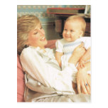 Vintage Royalty, Diana and Prince William Post Cards