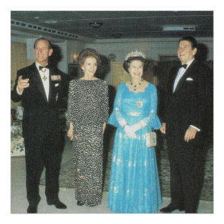 Vintage Royalty, Queen, Philip and the Reagans Print