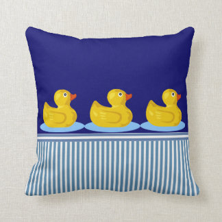 vintage rubber ducks nautical stripes pillows