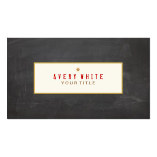 Vintage Rubber Stamp Text Hip Black Double-Sided Standard Business Cards (Pack Of 100)