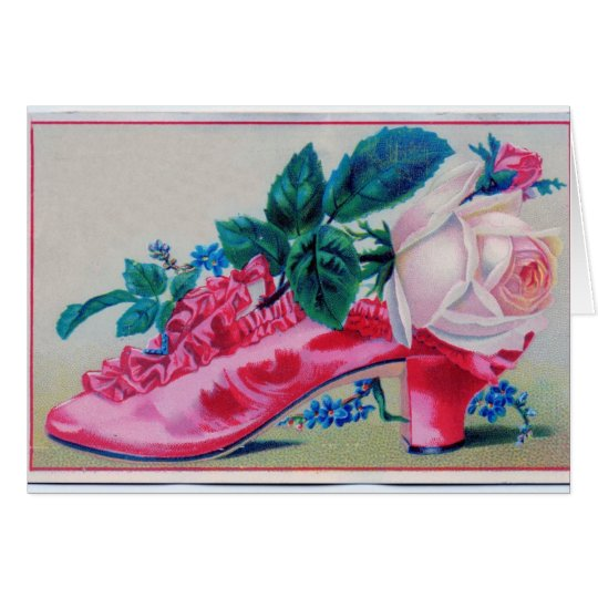 Vintage Ruffles Shoe Mother's Day Card