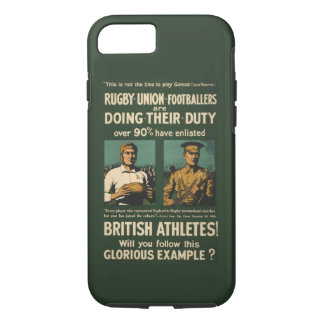 Vintage : Rugby players call for duty iPhone 7 Case