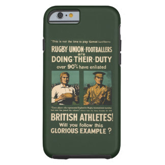 Vintage : Rugby players call for duty Tough iPhone 6 Case