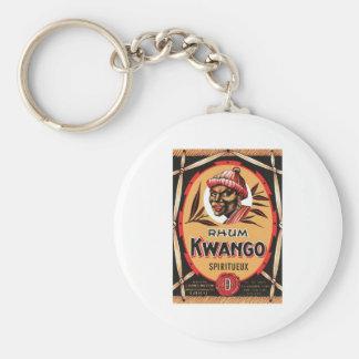 Vintage Rum Liquor Product Label Keychains
