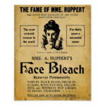 Vintage Rupperts Face Bleach Print