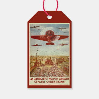 Vintage Russian Aviation custom gift tags