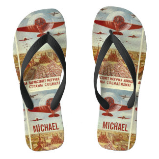 Vintage Russian Aviation custom name sandals