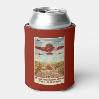 Vintage Russian Aviation Propaganda can cooler