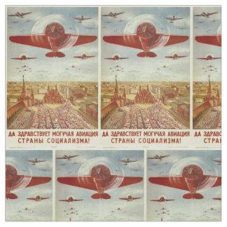 Vintage Russian Aviation Propaganda custom fabric