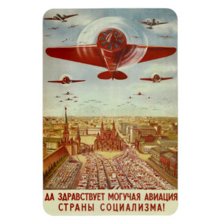 Vintage Russian Aviation Propaganda magnet