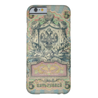 Vintage russian banknote barely there iPhone 6 case