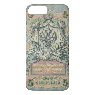 Vintage russian banknote iPhone 7 plus case