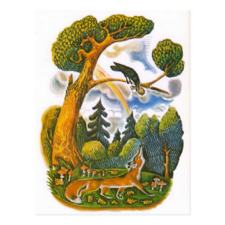 Vintage Russian illustrations, Aesop's fables 10 Postcard