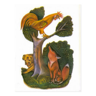 Vintage Russian illustrations, Aesop's fables 12 Postcard