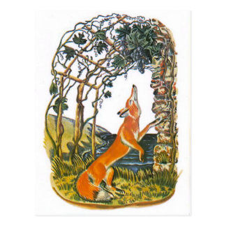 Vintage Russian illustrations, Aesop's fables 1 Postcard