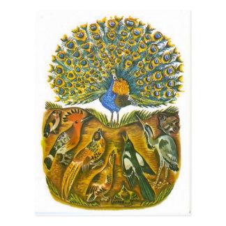 Vintage Russian illustrations, Aesop's fables 5 Postcard