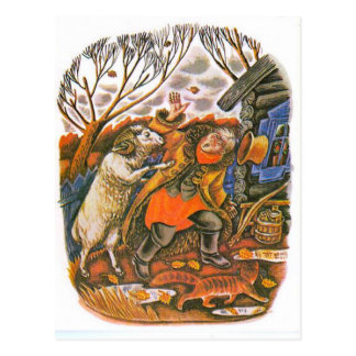 Vintage Russian illustrations, Aesop's fables 9 Postcard