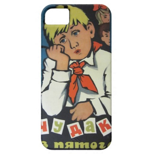 """Vintage Russian Movie Poster """"Чудак из 5 Б"""" iPhone 5 Cover"""