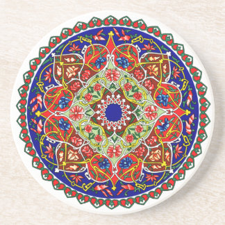 Vintage Russian Ornament Design Coaster