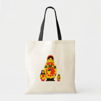Vintage Russian Russia Chic Matryoshka Doll Tote Bag