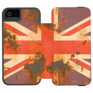 Vintage Rusted United Kingdom Flag Incipio Watson™ iPhone 5 Wallet Case