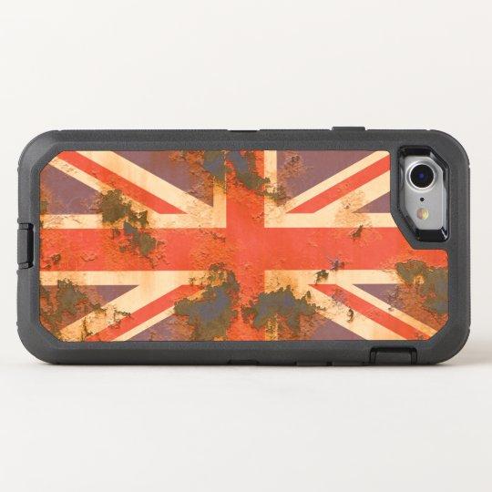 Vintage Rusted United Kingdom Flag OtterBox Defender iPhone
