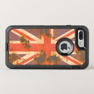 Vintage Rusted United Kingdom Flag OtterBox Defender iPhone 8 Plus/7 Plus Case