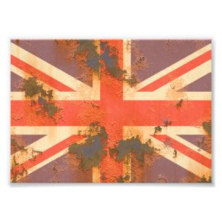 Vintage Rusted United Kingdom Flag Photo Art