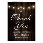Vintage Rustic Anchor Nautical Thank You Cards