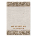 Vintage Rustic Burlap Lace Earring Cards Pack Of Chubby Business Cards