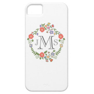 Vintage rustic chic wedding monogram initial flora iPhone 5 covers