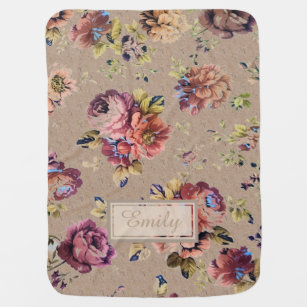 Make your own pretty flower patterns blanket bundle up in yours vintage rustic floral baby blanket mightylinksfo