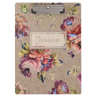 Vintage Rustic Floral Clipboard