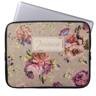 Vintage Rustic Floral Laptop Sleeve