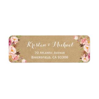 Vintage Rustic Floral Wrapping Kraft