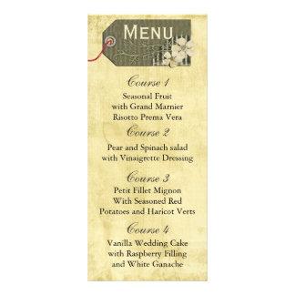 vintage rustic mason jar wedding menu customized rack card