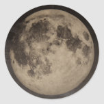 Vintage rustic moon sticker