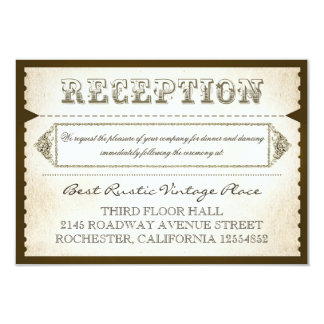 vintage rustic reception cards - tickets