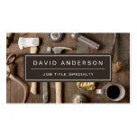 Vintage Rustic Tools Carpenter Handyman Woodworker Pack Of Standard Business Cards