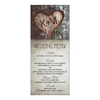 Vintage rustic tree wedding menu cards 10 cm x 24 cm invitation card