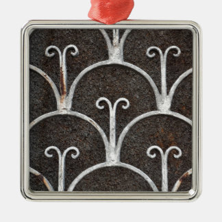 vintage rusty pattern christmas ornament
