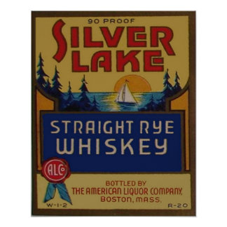 Vintage Rye Whiskey Liquor Retro Advertisement Poster