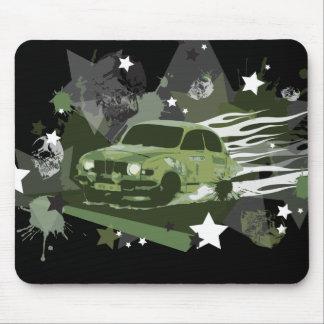 vintage saab rally mousepad
