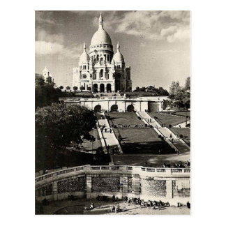 Vintage Sacré-Coeur de Montmartre in Paris Photo Postcard