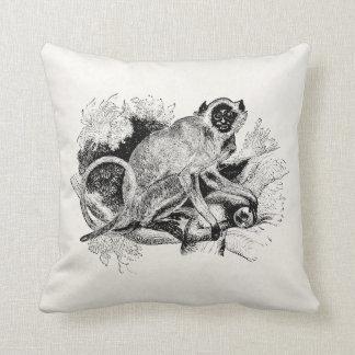 Vintage Sacred Capuchin Monkey 1800s Monkeys Cushion